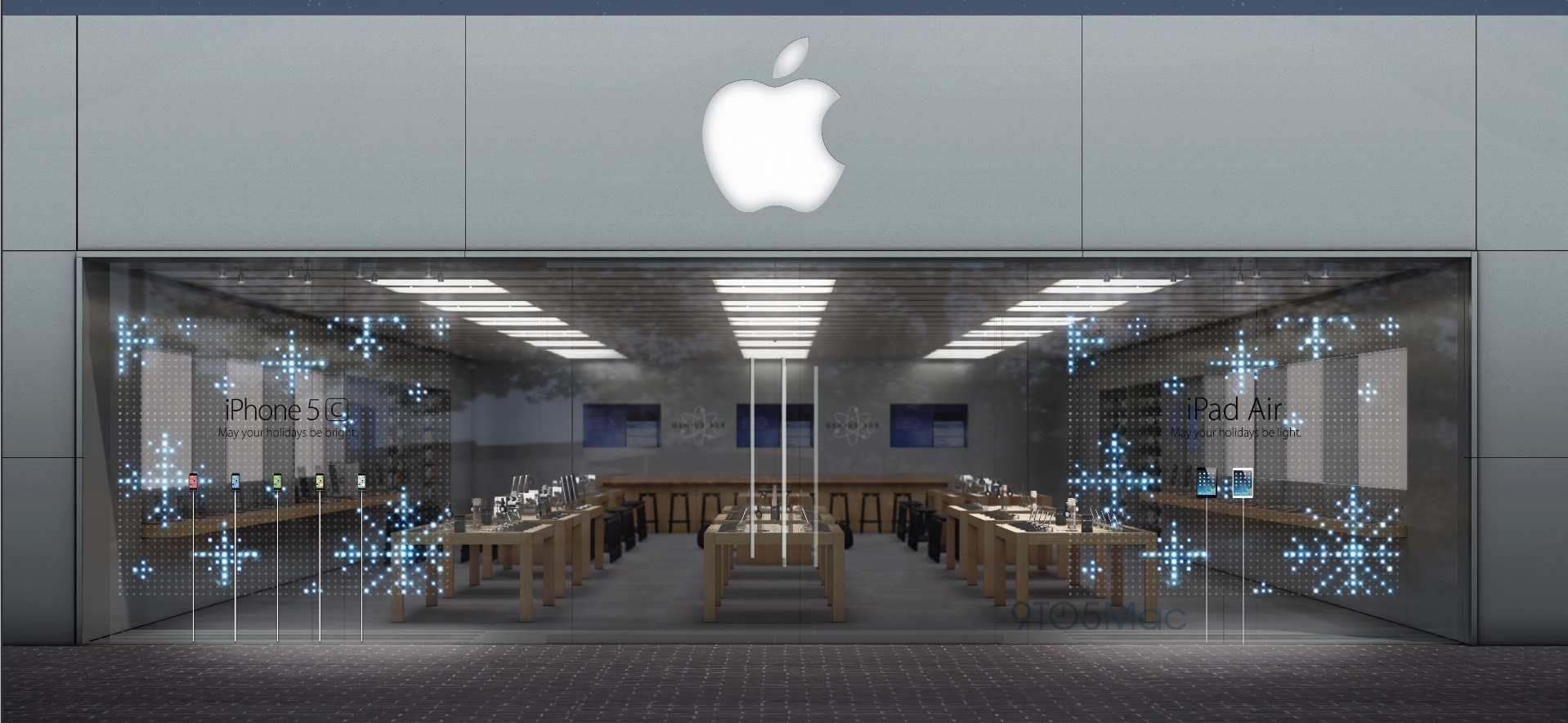 facade of Apple store