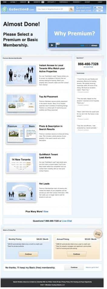 SaaS landing page template