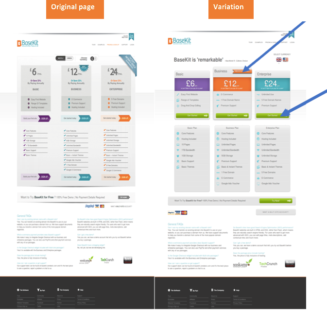 Basekit Pricing Page A/B Testing Case Study