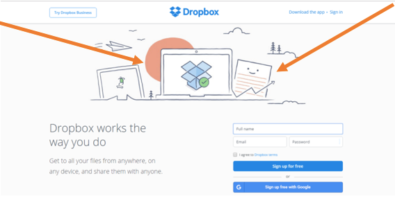 A/B testing example dropbox