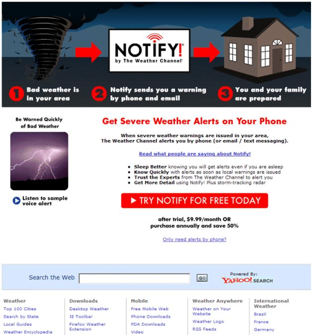 Notify page after