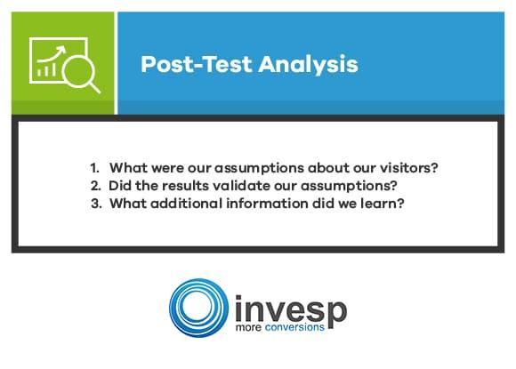 Post Test Analysis Conversion Optimization System