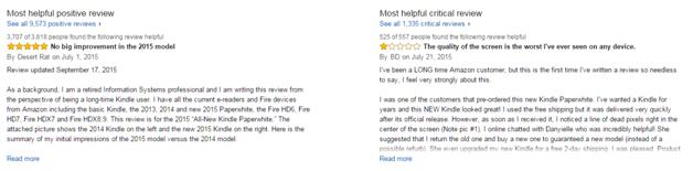 Emphasize user reviews