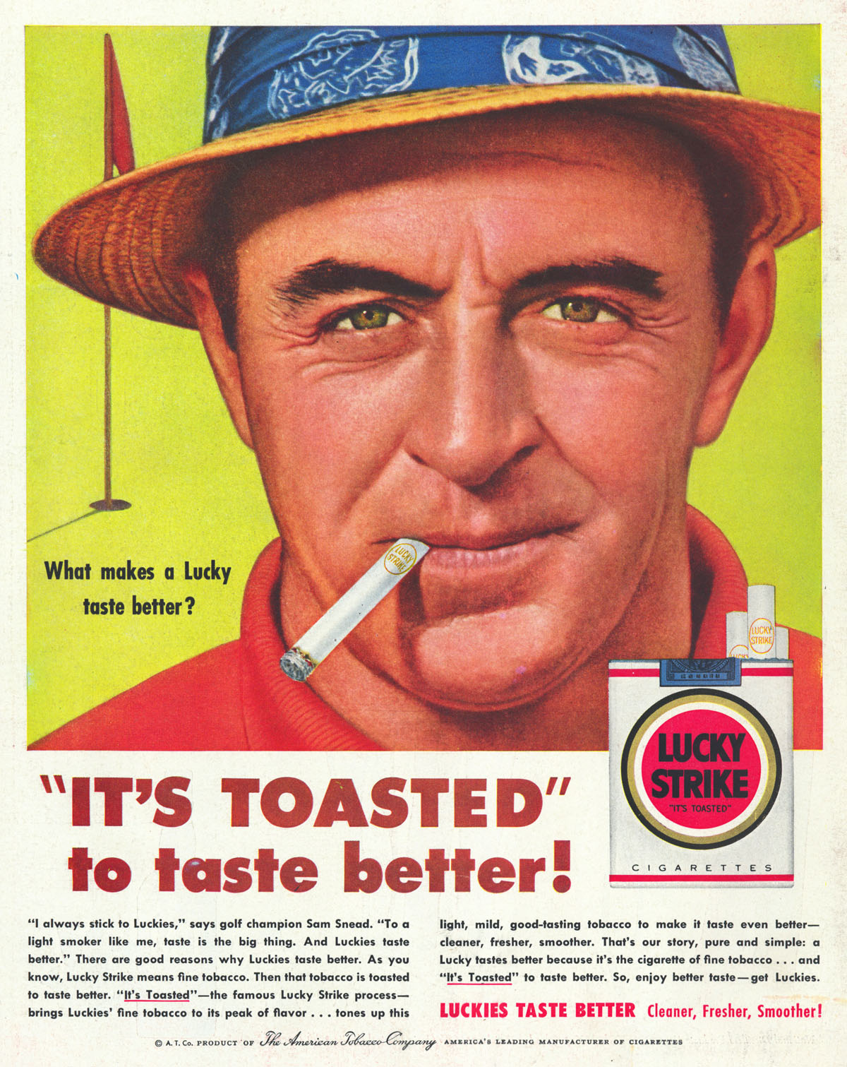 "Lucky Strikes ""It's Toasted"" unique selling proposition"