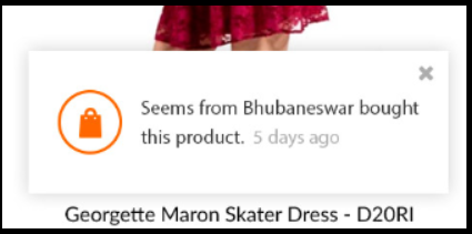 Social proof on ecommerce produce page