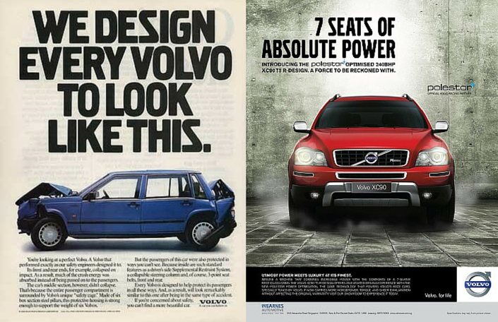 Volvo ads Comparison
