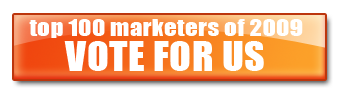 Vote for us - Top Marketer of 2009